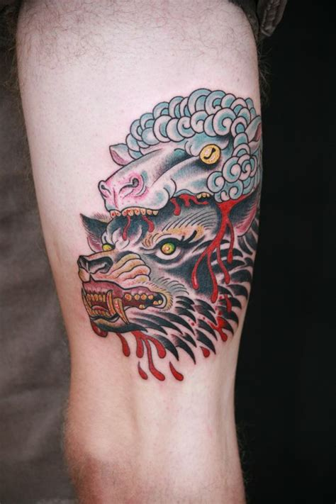 wolf in sheeps clothing tattoo wolf in sheep s clothing by zack spurlock from