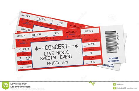 red concert tickets stock photo image of entrance film