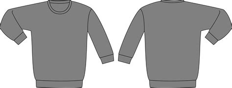 clipart sweatshirt template