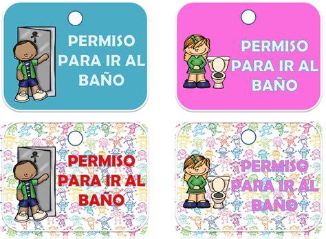 imagenes educativas para ir al baño permisos para ir al ba 241 o material educativo