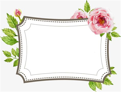 labels flower garden picture flowers free flower images garden hand painted flower text border label hand painted