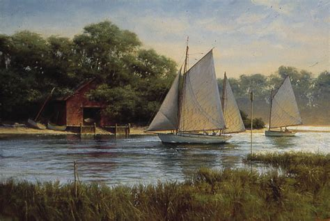 old boat house donald demers hand signed numbered limited edition giclee on canvas quot by the old
