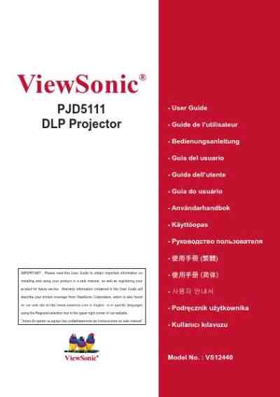 Proyektor Viewsonic Pjd5111 viewsonic pjd5111 projector manual for free now