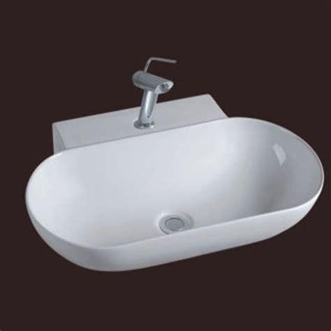 rubinetto per lavabo da appoggio lavabo da appoggio 56x40 ceramica predisposizione rubinetto md