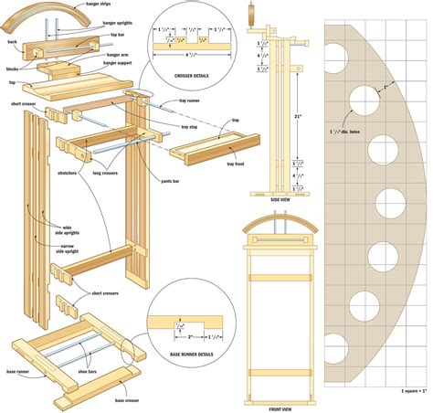 woodworking blueprints valet stand canadian home workshop