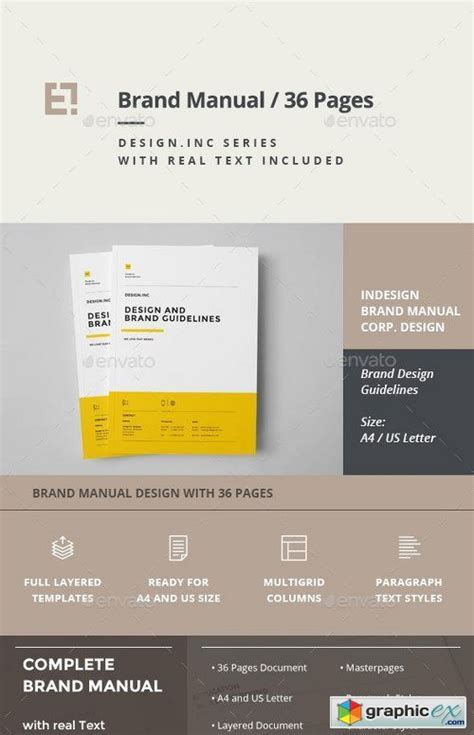 brand manual template    vector stock image photoshop icon