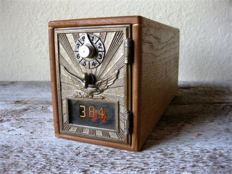 Lock Post Office by Vintage Post Office Bank Box Lock Box Eagle Design
