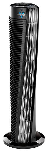 vornado vortex  compact tower air circulator floor fan blk  remote vornado