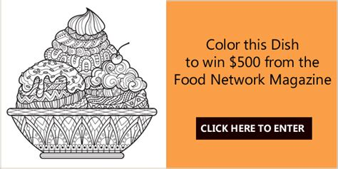 Mail In Sweepstakes List - food network magazine s color this dish coloring contest