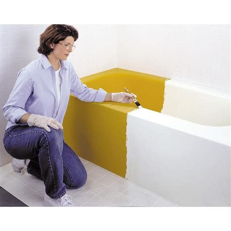bathtub refinishing products home depot rust oleum tub tile refurnishing kit white 1q 7860 519