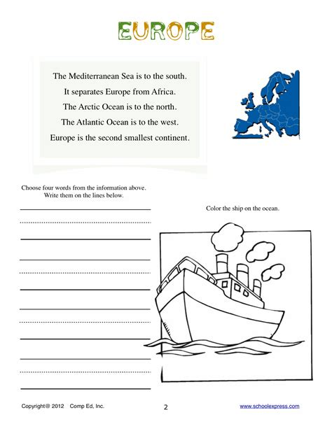 Free Geography Worksheets by Free Printable Map Worksheet On The Geography Of Russia