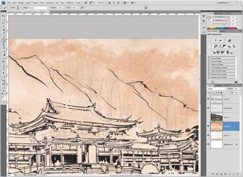 Photoshop Tutorial Japanese Art | photoshop tutorial create japanese art advanced