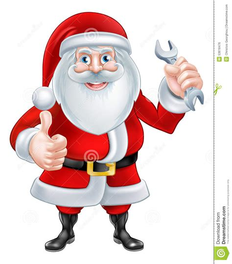 Plumbing Santa by Santa Holding A Spanner Stock Vector Image 53618476