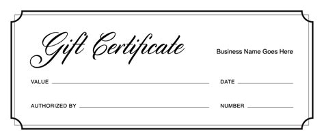 downloadable gift certificate template gift certificate templates free gift