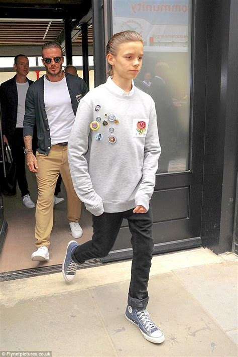 romeo beckham outfits romeo beckham lax airport march 24 2016 star style kids