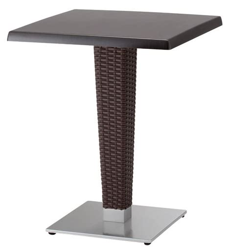bar table base woven base for table in cast iron and aluminum idfdesign