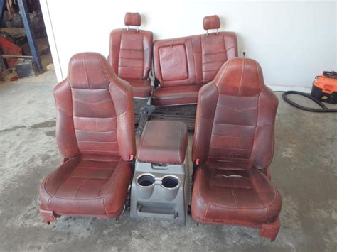ford  king ranch front rear seats console