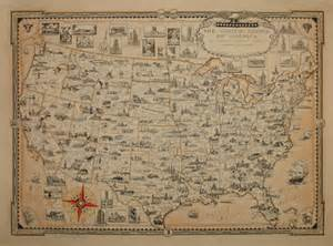 pictorial map of the united states george glazer gallery antique maps pictorial map of