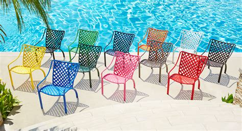 colorful patio furniture exciting vinyl colors for summer 2016 the southern