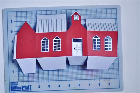 printable houses to fold the perfect gift school house gift box design mom