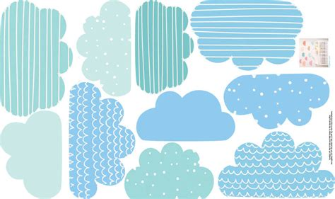 Childrens Wall Stickers For Bedrooms pastel clouds wall stickers by parkins interiors