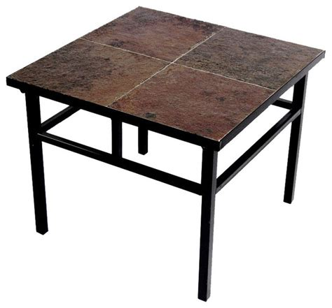 End Tables And Coffee Tables by End Table W Slate Top Modern Coffee Tables By