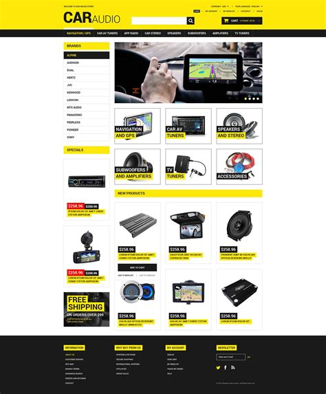 car audio video magento theme 52061