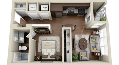 Small Apartments by 3dplans Com