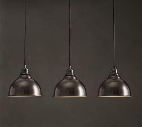 Metal Bell Pendant Light Pb Classic 3 Light Pendant Metal Bell Pottery Barn