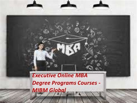 Mba Degree Subjects by Executive Mba Degree Programs Courses In A