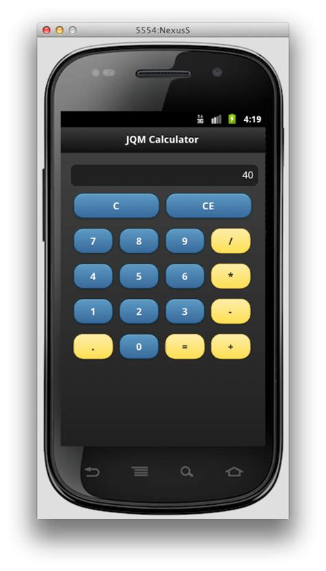 calculator jquery the rock n coder converting the jquery mobile calculator