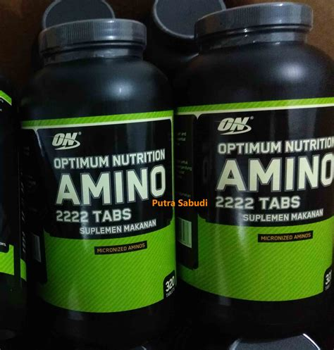 Suplemen Amino 2222 Superior Amino 2222 Bpom Optimum Nutrition Isi 320 Tablet