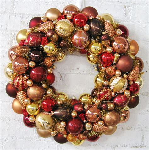 christmas ornament wreath bronzecoppergold