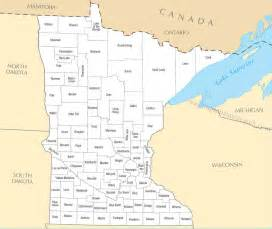 Mn State Map by A Large Detailed Minnesota State County Map