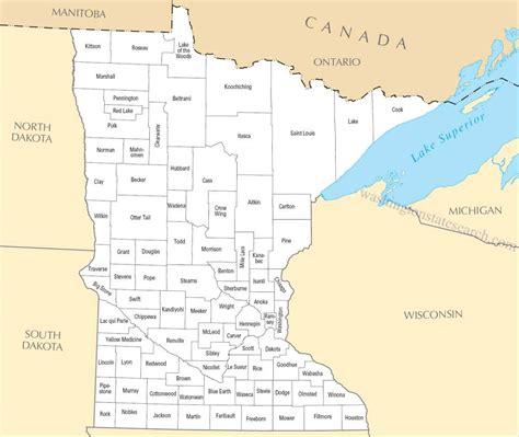 State Map Minnesota   afputra.com