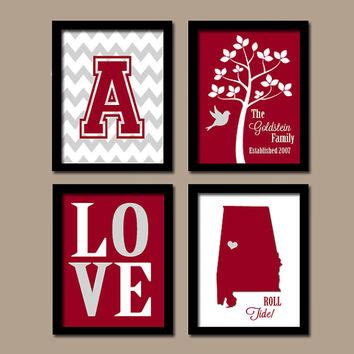 alabama football home decor university of alabama college bama roll from trm design wall