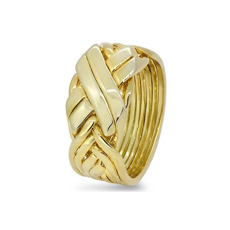 mens gold 8bfx m puzzle rings creations