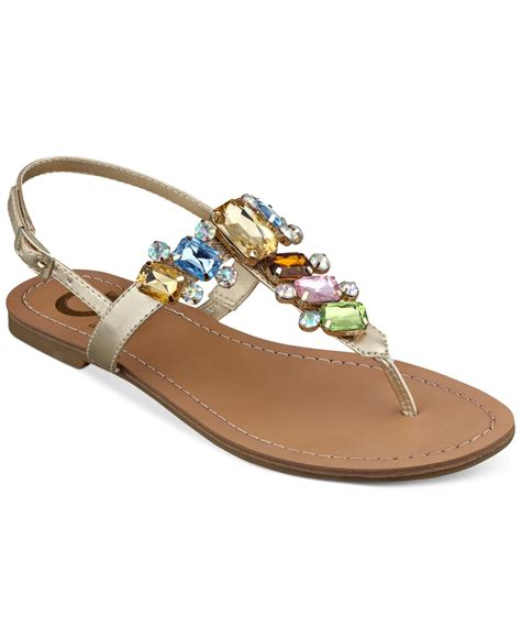 Flat Shoes G lyst g by guess s kyli t flat sandals