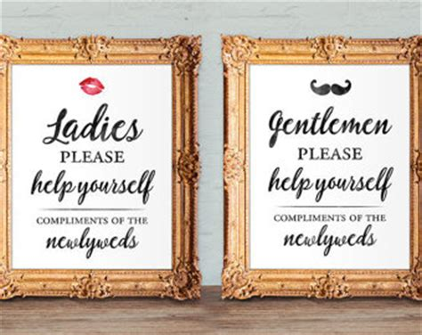 wedding bathroom basket sign template bathroom basket etsy