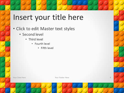 Lego Powerpoint Template Lego Templates Design