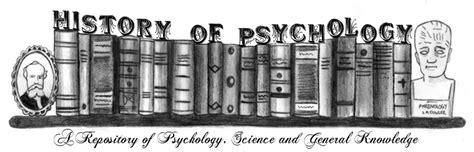 Psychology And History design history of psychology design