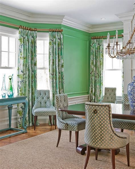 Green Dining Room Wall Green Walls Eclectic Dining Room Stark Paint Chelsea