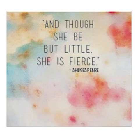 and though he be little though she be but little posters zazzle