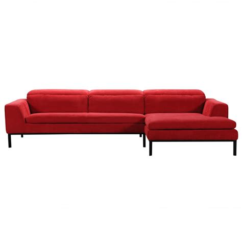 modern red sofa divani casa clayton modern red fabric sectional sofa