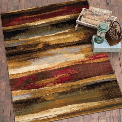rustic bathroom rugs rustic landscape rug 5 x 7