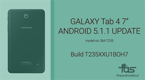 Galaxy Tab 4 Update samsung galaxy tab 4 7 0 lte receives android 5 1 1 update the android soul
