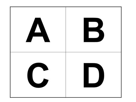 abcd cards template differentiated ppt
