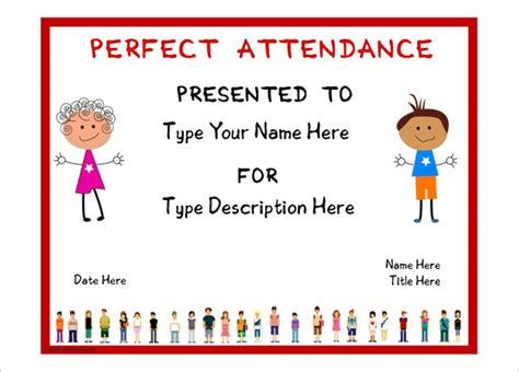 Attendance Certificate Template 24 Free Word Pdf Documents Download Free Premium Templates Attendance Award Template