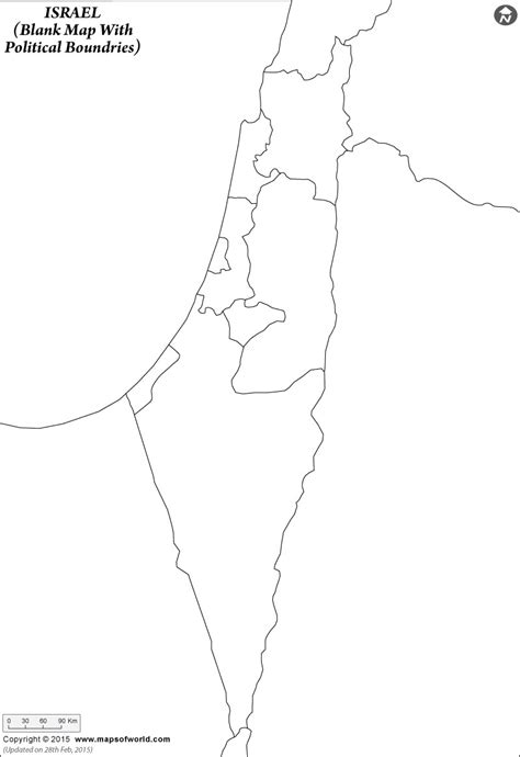 Free Outline Map Of Israel by Blank Map Of Israel My