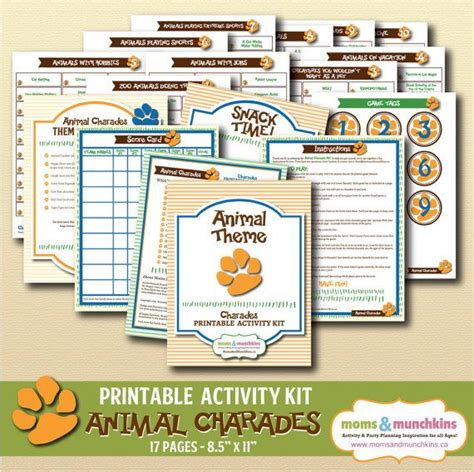printable animal charades cards 301 best images about kids activity ideas on pinterest
